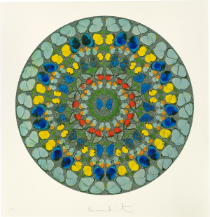 Damien Hirst, Psalm Print: Diligam te, Domine (diamond dust)