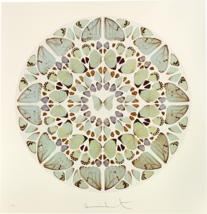 Damien Hirst, Psalm Print: Exaudi, Domine (diamond dust)