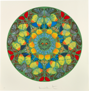 Damien Hirst, Psalm Print: Usque quo, Domine? (diamond dust)