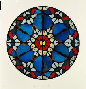 Damien Hirst, Psalm Print: Verba mea auribus