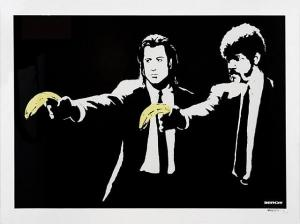 Banksy, Pulp Fiction Unsigned