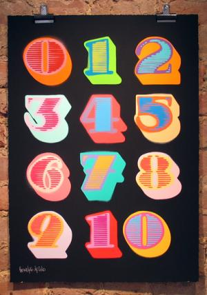shutterfont numbers, black