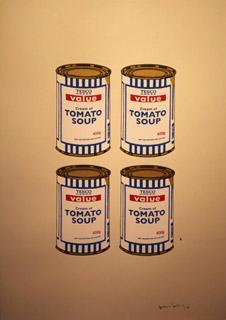 Banksy, Four Soup Cans