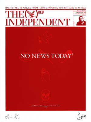 Damien Hirst, The Independent (RED)