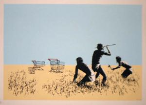 Banksy, Trolleys Colour