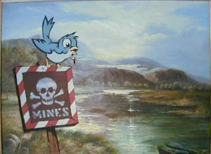 Banksy, Bird On Mines