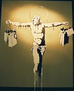 Banksy, Christ Shopping