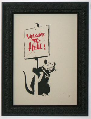 Banksy, Welcome to Hell Unsigned